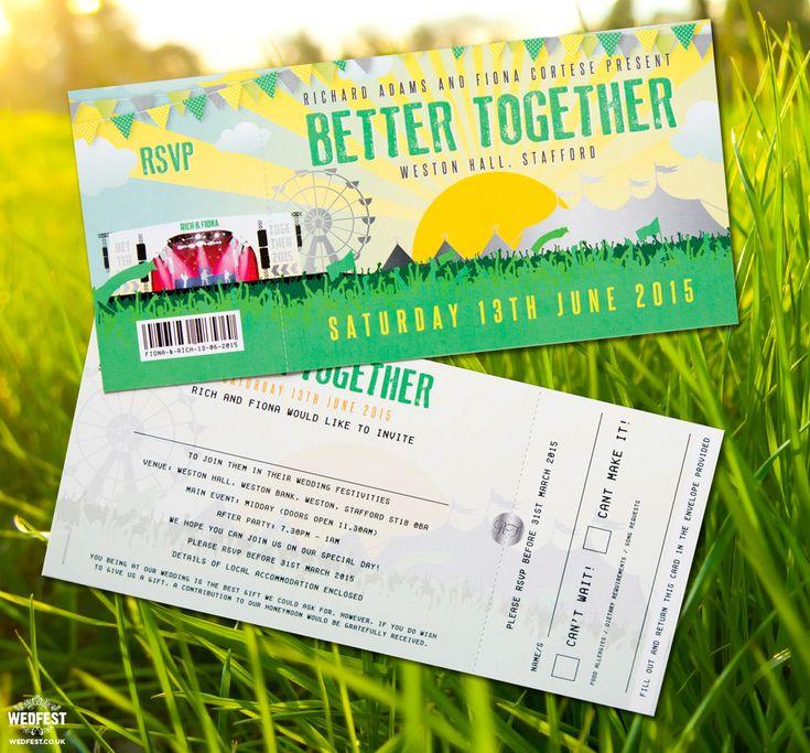 better together festival wedding invitation http://www.wedfest.co/better-together-festival-wedding/