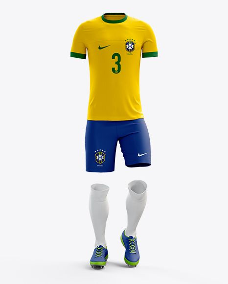 Full Soccer Kit Front View Mockup Mais