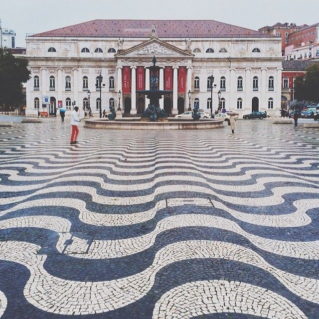 Rossio Square, Portugal, photo by callicles on Instagram #travel #architecture