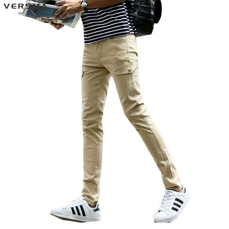 VERSMA Mens Khaki Pants Side Pockets Sweatpants Zipper Green Cargo Pants Trousers Men US Camo Stylish Skinny Sweatpants for Men