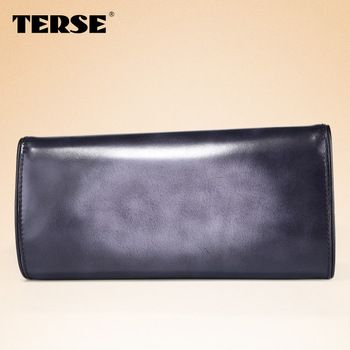 TERSE Italian cow leather evening bag for women handmade clutch bag with OEM/ODM service