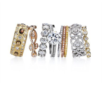 De Beers Diamond Rings  www.finditforweddings.com