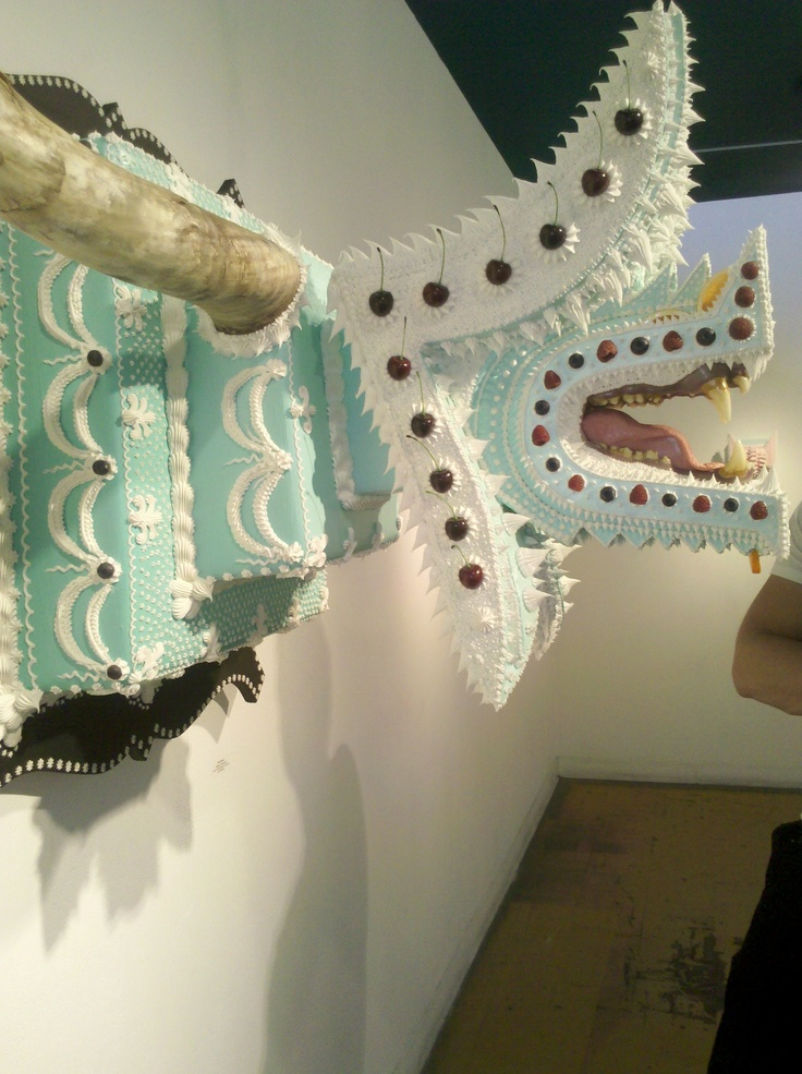 This cake bites back (local art displayed in the gallery at Wacko): Cakes Bites
