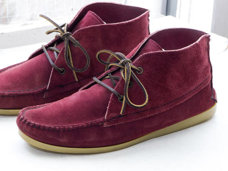 QUODDY for SOUTH WILLARD Chukka Boot, sz 11 - Wine Suede, Gum Sole, Moccasin/Moc #Quoddy #AnkleBoots