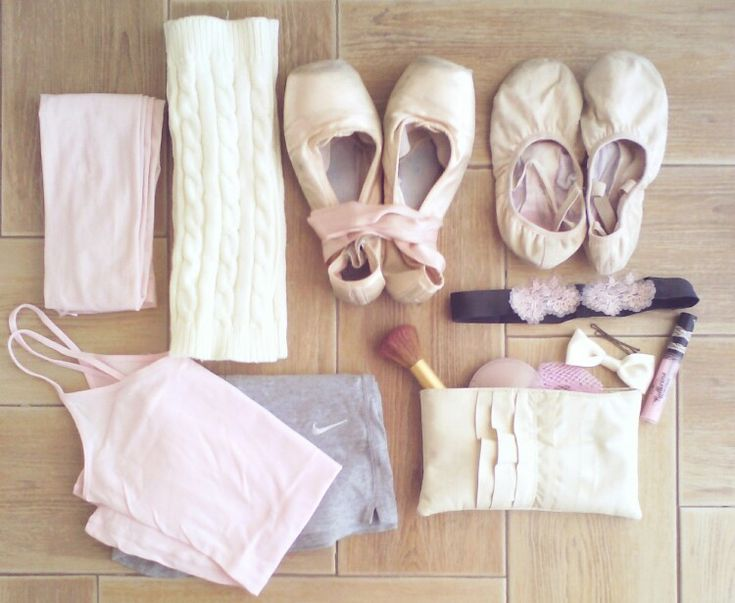 Ballet bag essentials - mine is definitely not this cute and coordinated