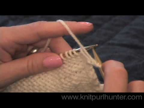 Knit Purl Stitch Continental Style : Knit Purl Hunter Video Lesson: Purl (Continental Style) Knit Purl Hunter Vi...