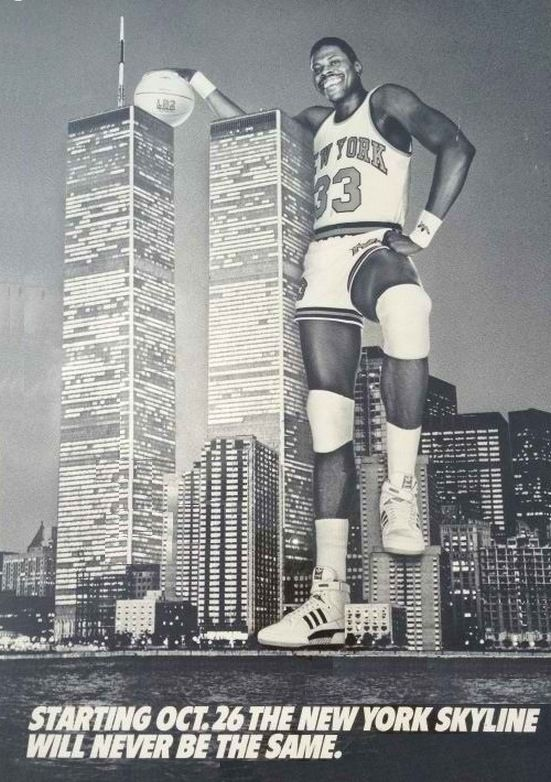 Patrick Ewings NYC Skyline Adidas Ad - Happy 50th Birthday