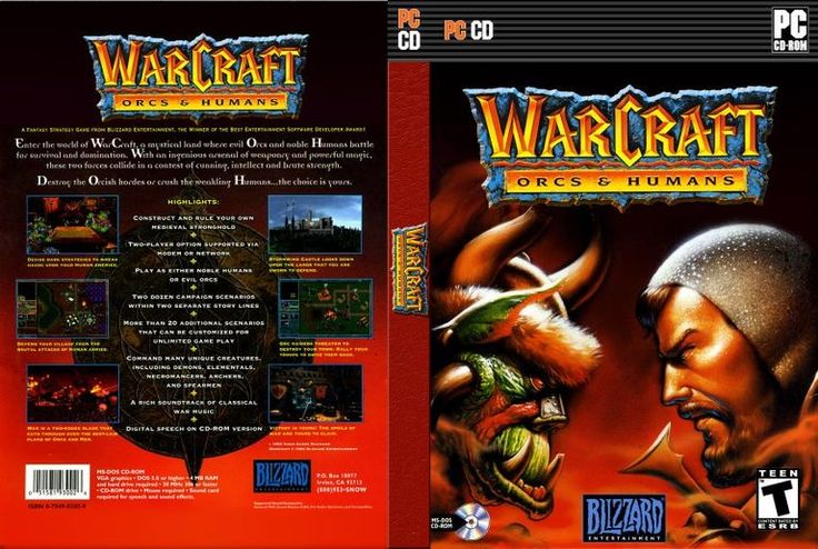 Warcraft: Orcs & Humans is a real-time strategy game (RTS), developed by Blizzard Entertainment and published by Blizzard and Interplay Entertainment. The MS-DOS version was released on November 23, 1994 and the Macintosh version in late 1996.