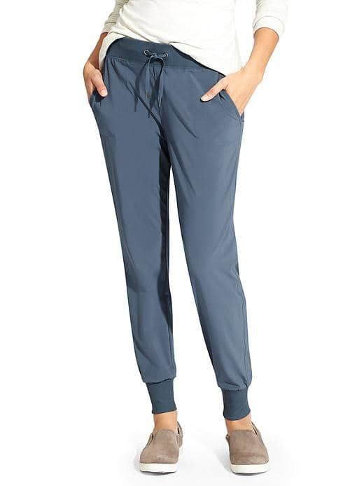 Athleta City Jogger Pant - made from recycled fibers! Also comes in petite and tall sizes.