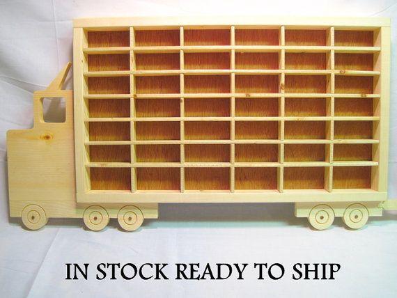 Hot Wheels, Boys, Wood, Truck, Display, Case, Toy, Wall, Decor, Bedroom, Matchbox, Storage, Playroom, Room, Kids, Wooden, Shelf, Rack, Gift