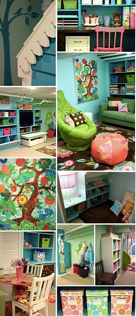 fIdeas for Danenn's room!!! fun site for kids rooms inspiration