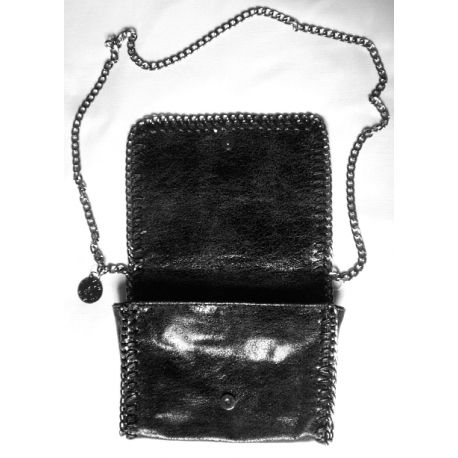 Black purse with chains