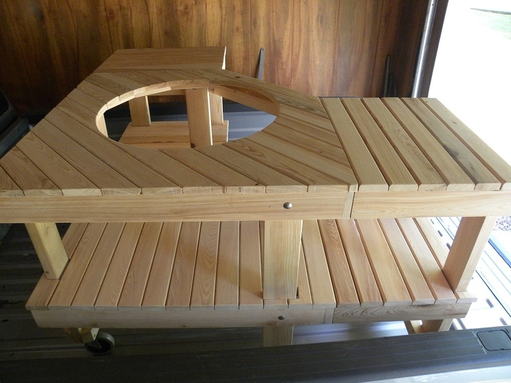 Big Green Egg Corner Table Plans - WoodWorking Projects ...