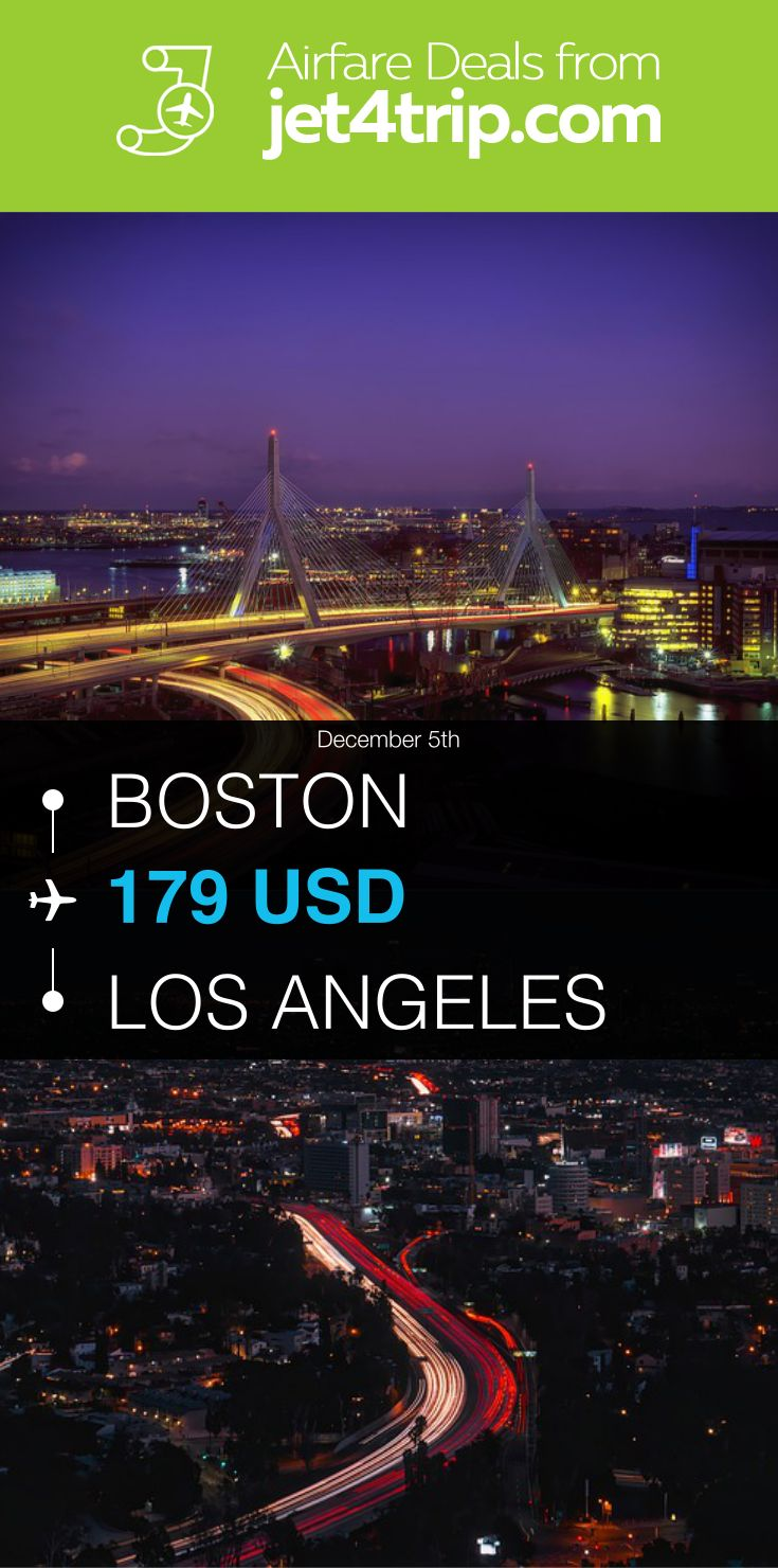 Flight from Boston to Los Angeles for $179 by Spirit Airlines #travel #ticket #deals #flight #BOS #LAX #Boston #Los Angeles #NK #Spirit Airlines