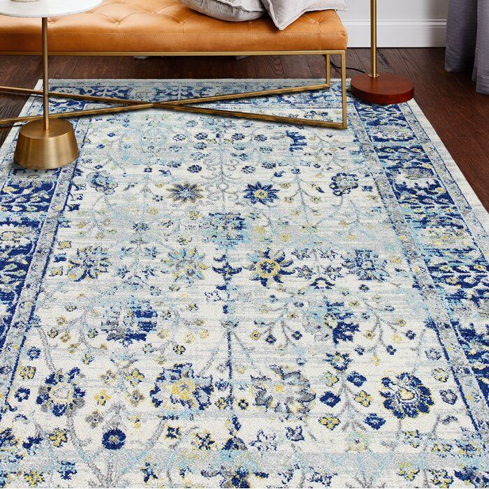Chupp Ivory Blue Yellow Area Rug Reviews Joss Main In 2020 Blue And Yellow Living Room Area Rugs Yellow Area Rugs