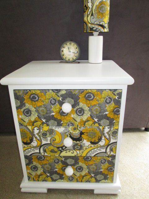 """""""juliesgirlshed"""" retro fabric covered drawers"""