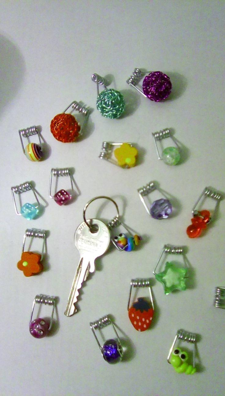 Niedliche kleine Schlüsselanhänger herstellen: Bild 1: Diese niedlichen kleine… – Clara Schmidt