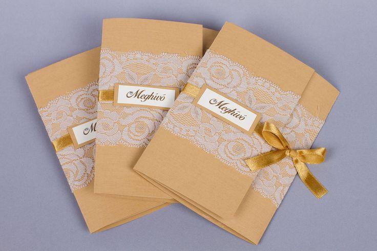 Csipkés esküvői meghívó _ vintage wedding invitations