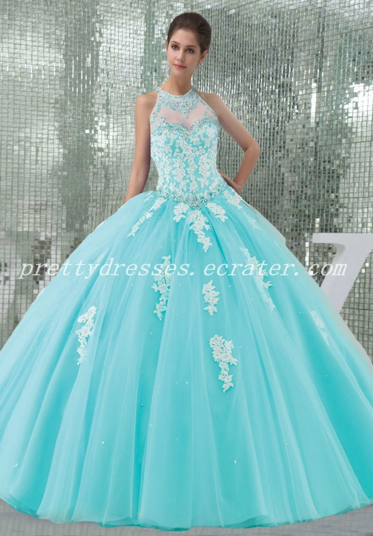 Wish Dresses Quencenera Sweet 15 Quince Blue Quinceanera Ideas Ball Gowns Sweets Dress Necklines