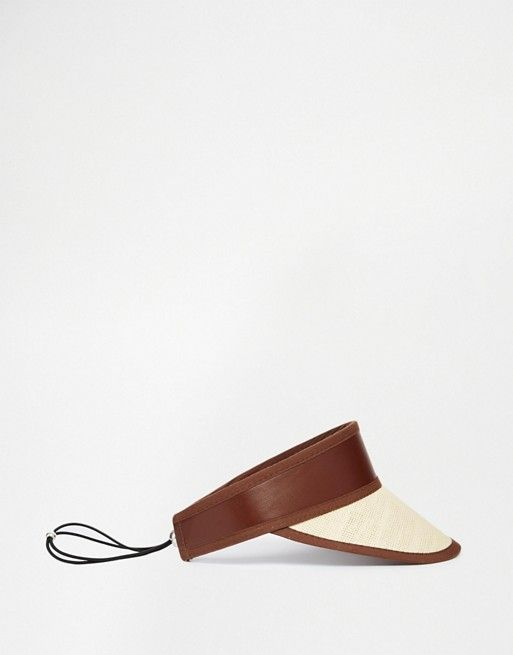 ASOS | ASOS Straw Visor With Adjustor