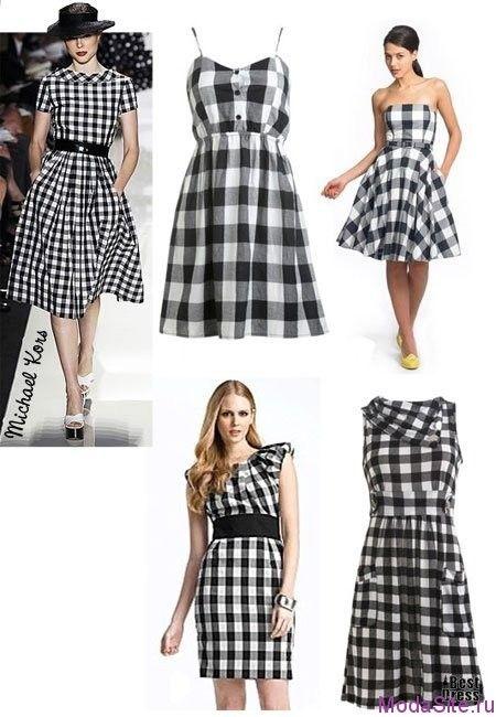 Модное платье в клетку (1)