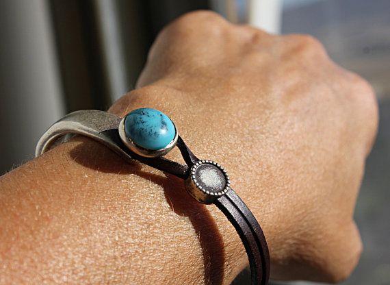 Women leather bracelet TURQUOISE bracelet boho jewelry bead Bracelet fashion jewelry Must have bracelet turquoise jewelry