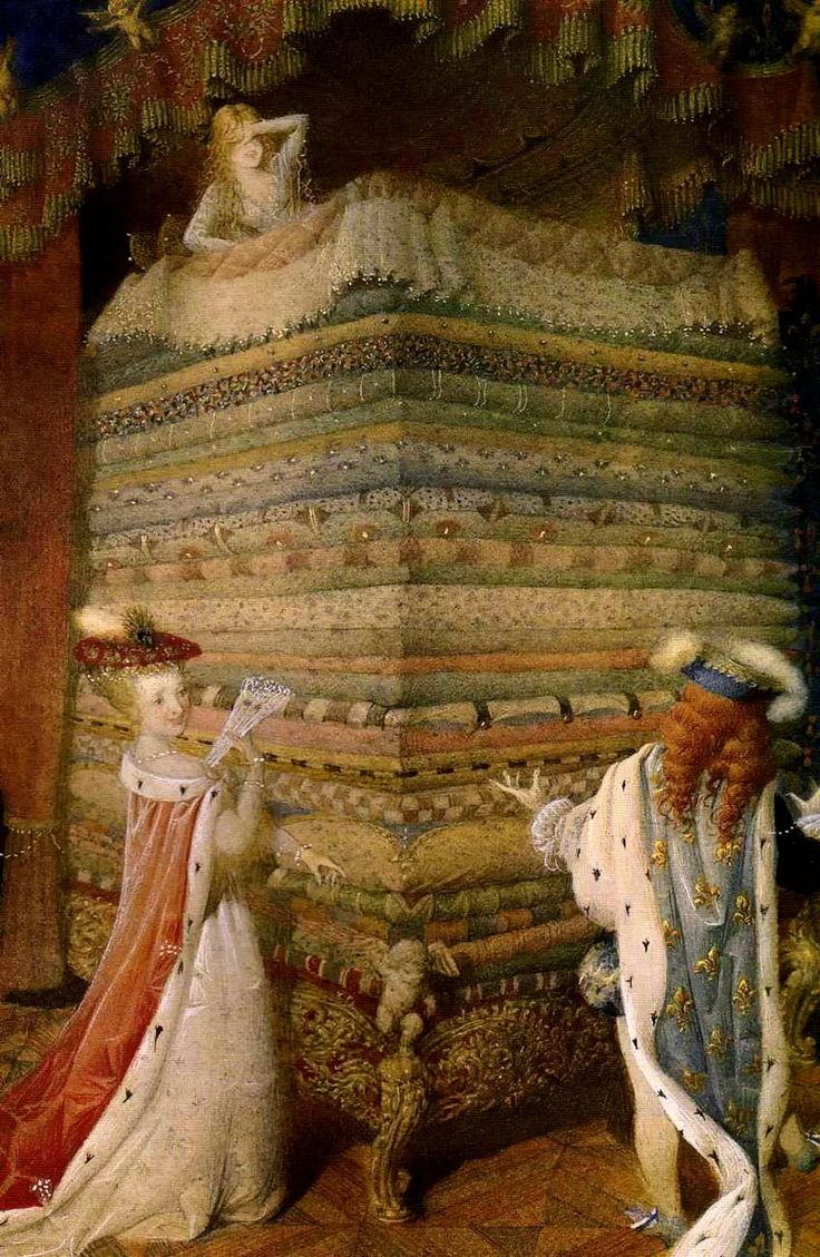 """Gennady Spirin for """"The Princess and the Pea"""""""