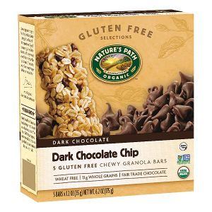 GF Dark Chocolate Chip Chewy Granola Bar | Nature's Path (*has small amount of molasses at end of ingredient list but should be tolerated by most)