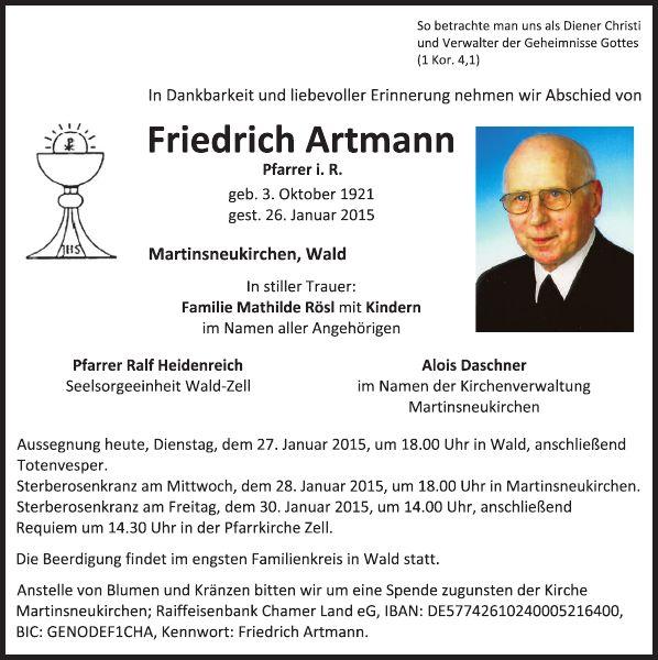 Friedrich Artmann