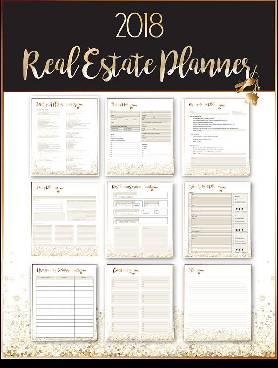 Drum Roll Please…The first and only planner designed for the specific needs of a real estate agent is here! . . GRAB YOUR PRINTABLE 2018 REAL ESTATE PLANNER INSTANTLY TODAY WITH THIS INSTANT DOWNLOAD! . . Although there are apps and software to keep you on track, nothing can truly take