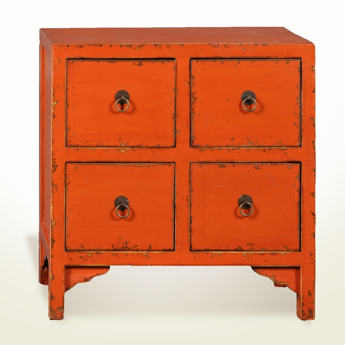 Rustic Orange Four-Drawer End #Table ($172.14)