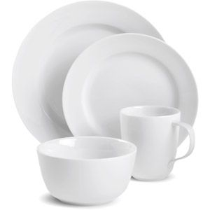 Canopy Round White Porcelain Dinnerware Set. Dishwasher Microwave Oven  sc 1 st  Pinterest & 26 best Dinnerware images on Pinterest | Dinner ware Dinnerware and ...