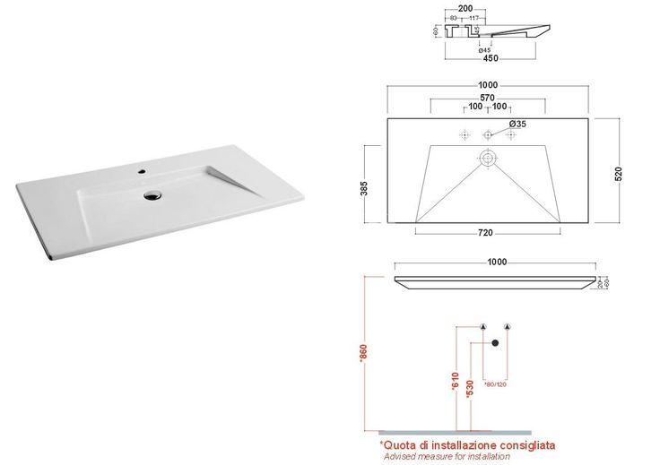 Olympia Crystal umywalka 100x52 81KR - Umywalki - wyposażenie wnętrz Max-Fliz