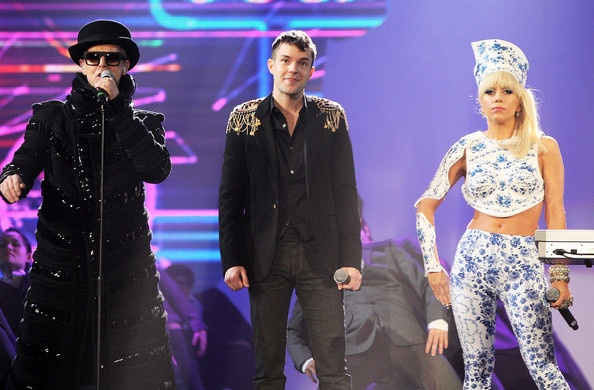 Lady Gaga and Neil Tennant Photo - The Brit Awards 2009 - Rehearsals
