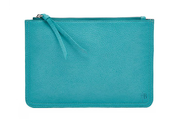 Blue & Silver Clutch - Front