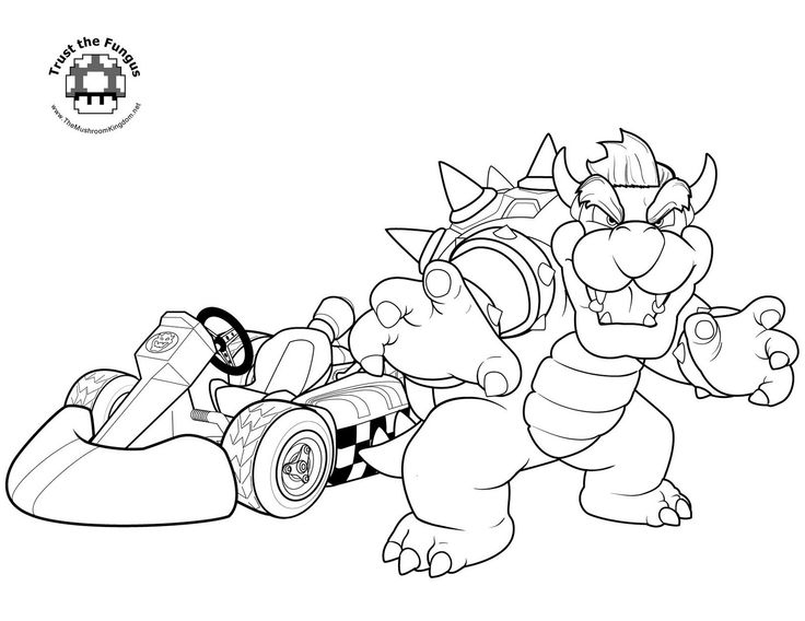 jimbos coloring pages free super mario coloring page - Mario Kart Coloring Pages