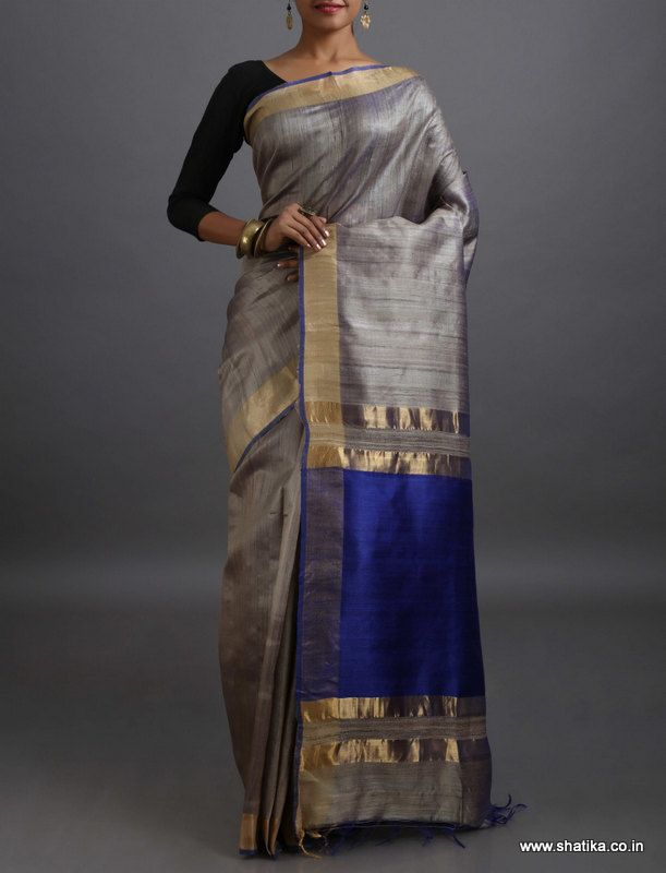 Khushi Plan with Enchanting Contrast Pallu #KhadiSilkSaree