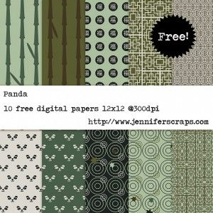 Free Digital Paper Pack - Panda