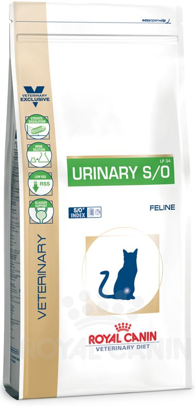 Royal Canin Veterinary Diet Urinary S/O (LP34) Urinary Trockenfutter für Katzen mit Harnsteinerkrankungen Royal Canin Veterinary Diet Urinary S/O LP 34 Katzenfutter ist ein Diätfuttermittel und Sie erhalten diese Diät...
