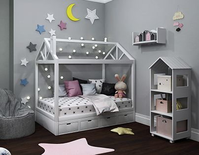 """Check out new work on my @Behance portfolio: """"Children's room Moon stars and house ✩★ ☆ ☾"""" http://be.net/gallery/54429547/Childrens-room-Moon-stars-and-house-"""