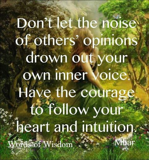 listen to your inner voice...