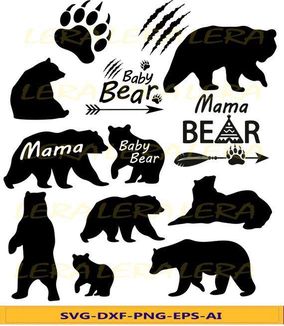 60 Off Bear Svg Baby Bear Svg Bear Paw Cut Files Mama
