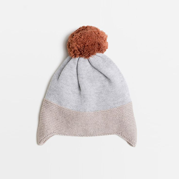 Willows Children's Boutique | Mouse Grey Melange/Stone Knitted Hat | By Wilson & Frenchy | Baby Boys Clothing | Online Baby Boutique