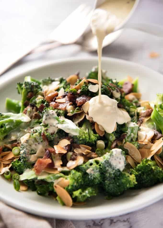 Broccoli Salad With Sour Cream Dressing Recipe Broccoli Salad Recipetin Eats Easy Healthy Breakfast