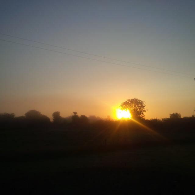 #Sunrise through the mist this morning