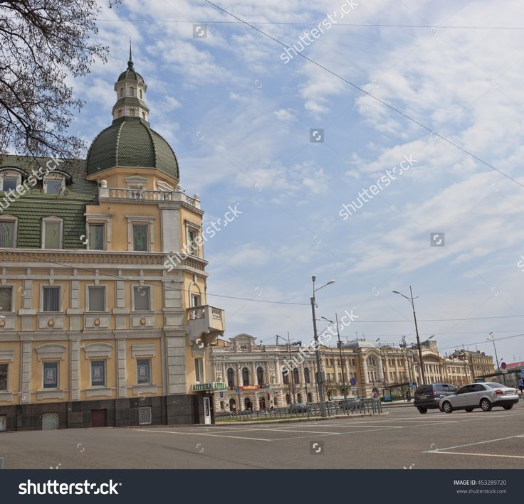 Kharkiv, Ukraine - April 26, 2015: Renovated Old House On The Rymarskaya Street In Kharkiv Стоковые фотографии 453289720 : Shutterstock
