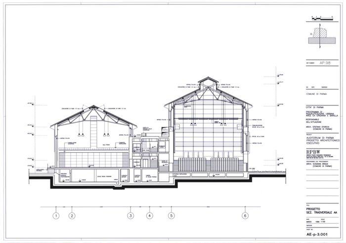 Drawings - Niccolò Paganini Auditorium - Renzo Piano