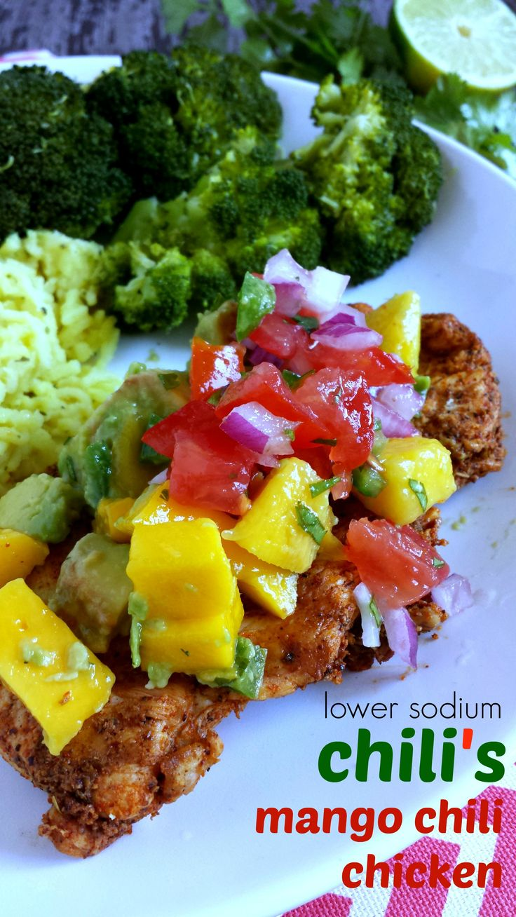 Mango Chili Chicken - lower sodium version of Chili's dish! Tastes great and so much better for you! | zenandspice.com