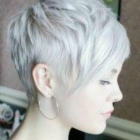 platinum blonde pixie hairstyle