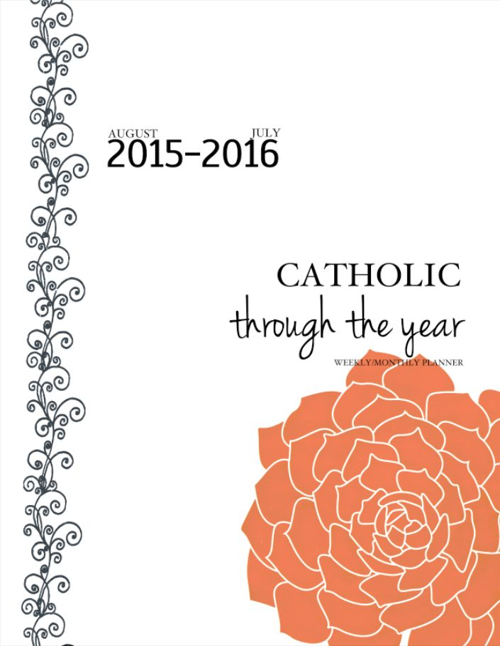 GIVEAWAY: 2015-2016 Catholic Through The Year Printable CALENDAR!
